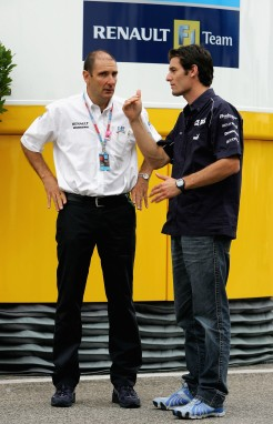 Bruno and I in the F1 paddock in 2006.