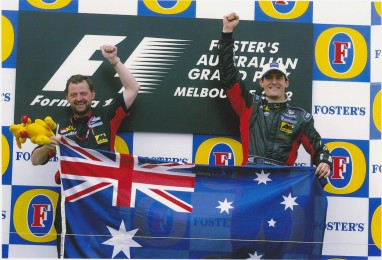 The famous (and only) shot of me on the Albert Park podium.