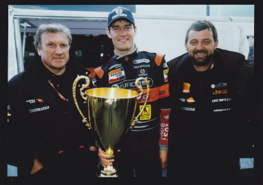 Racing with Arrows in 2000, thanks to EJ's introduction to Stoddy (Right).