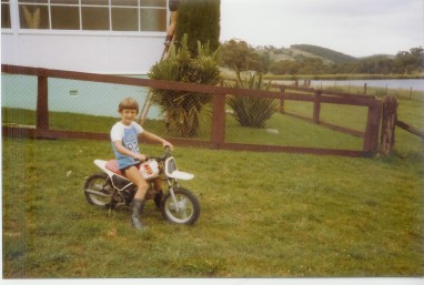 Me in 1984; when I got my first taste of F1 as a little tacker.