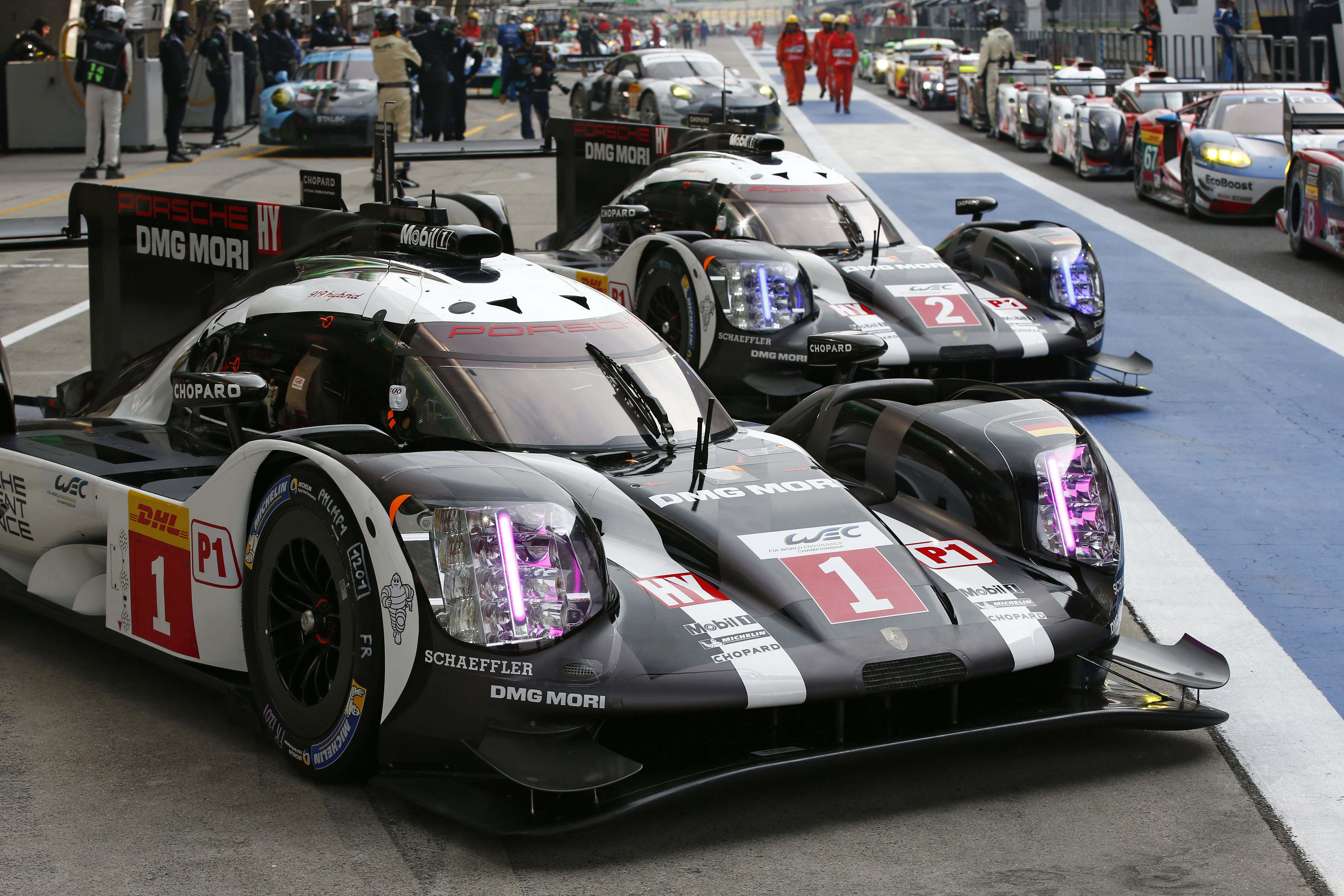 The Porsche Team With Two 919 Hybrids Generally Had A Positive First Day Of Practice For Penultimate Round Fia World Endurance Championship In