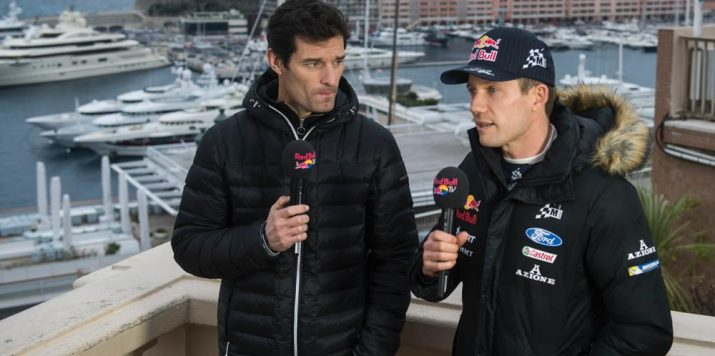 Mark interviewing Sebastien Ogier